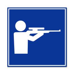Cartel simbolo campo de tiro