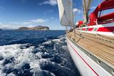 Fototapety Sail Boat in Sardinia coast, Italy