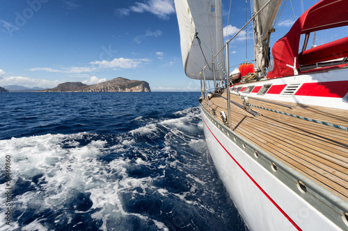 Sail Boat in Sardinia coast, Italy - 56469860