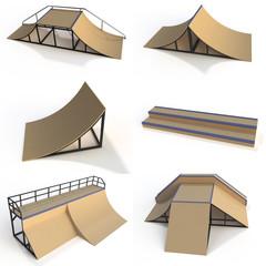 Elements for skate park