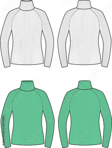 Vector illustration of women's sweater