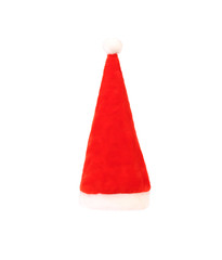 Santa Claus conical red hat.