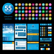 Set of flat design ui elements and icons