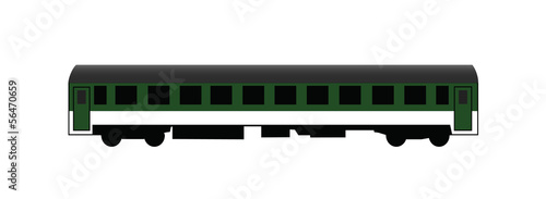 Green passenger rail car