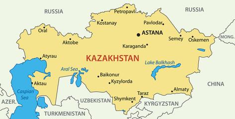 Republic of Kazakhstan - vector map