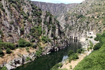 Dam of Aldeadavila in Spain. Water tunnel.