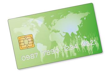 Carte bancaire verte