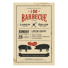 Vintage 'I Do' Barbecue wedding invitation card