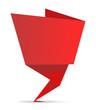 Schild Zettel gefaltet rot