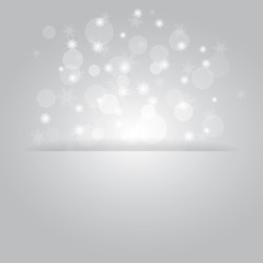 Glowing shiny christmas background with snowflakes.