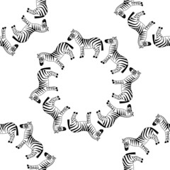 seamless zebra pattern