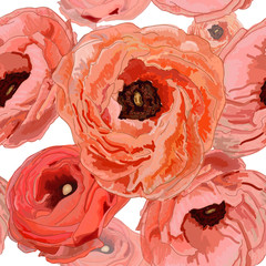 Abstract romantic pattern with roses
