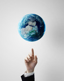 pointing at earth