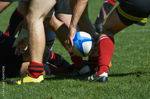 canvas print picture melee de rugby