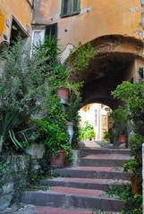 L'antico villaggio di Cervo, Liguria, Italia