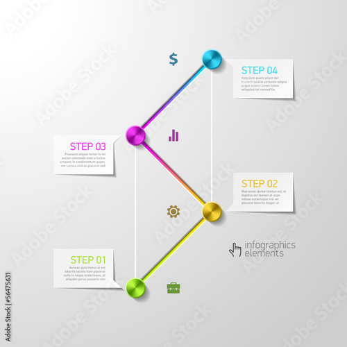 Abstract steps infographics design template
