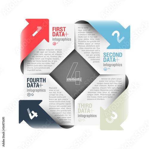 Arrows cycle infographics design element