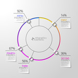 Pie chart infographics element