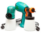 electrical spray gun for coloration, for color pulverization