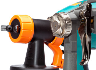 nozzle of a spray gun close up