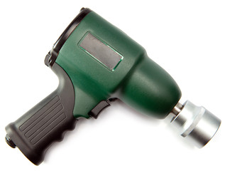 air impact wrench on white background