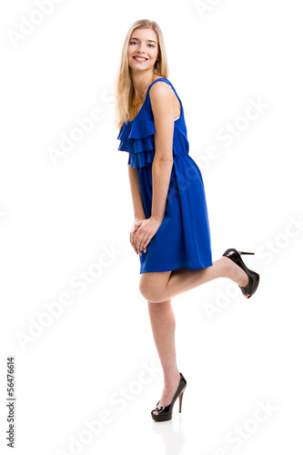 Blue Dress Girl