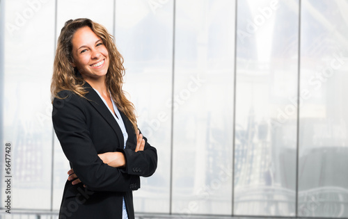 Attractive businesswoman portrait