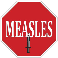 Stop measles through vaccination