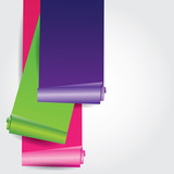 vector colorful paper roll
