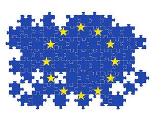 EU jigsaw pattern