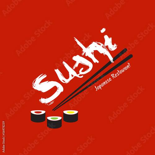 Sushi Japanese Restaurant design template - 56478239