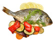 Baked Fish And Roasted Vegetables