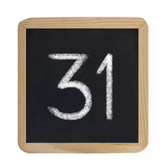 the number 31