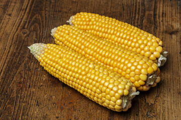 corn on a wooden background