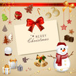 Vector Illustration of a Christmas Decoration Collection