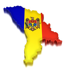 Moldova (clipping path included)