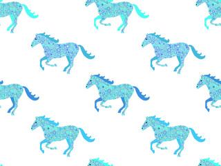 Horse seamless pattern.