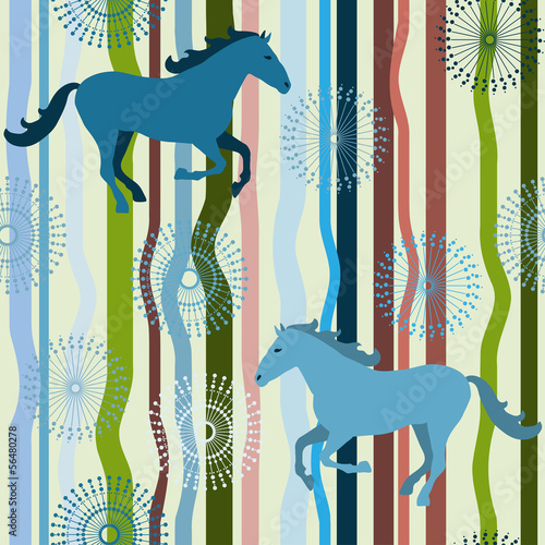 Horse seamless pattern.