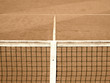 tennis court with line and net  120, old look