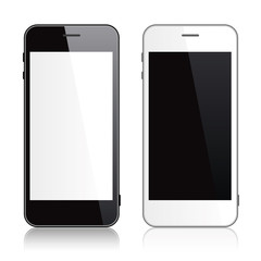 Black and white smartphone
