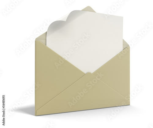 letter and list (clipping path included)