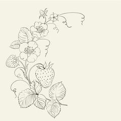 Strawberries brunch