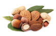 assorted nuts isolated