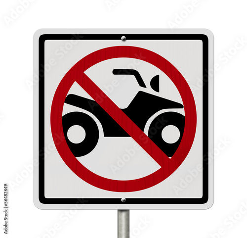 No ATV allowed