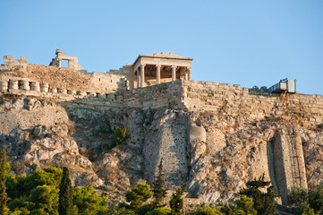 The Acropolis of Athens as seen from the the Agora. Greece.
