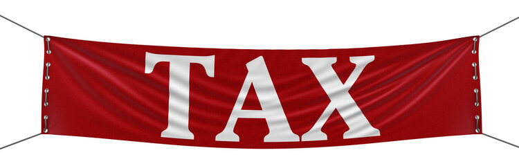 Tax Banner (clipping path included)