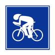 Cartel simbolo ciclismo en pista