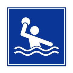 Cartel simbolo waterpolo