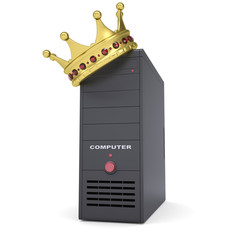 A computer system and gold crown