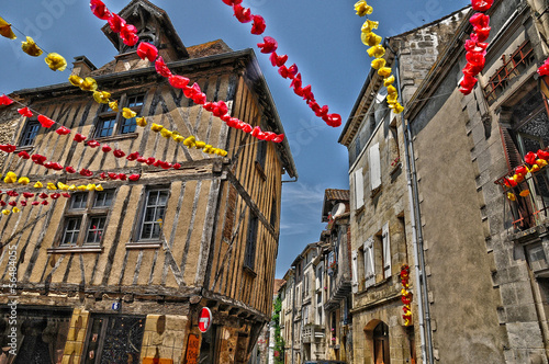 Perigord, the small city of Bergerac in Dordogne